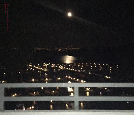 KRK to Oslo: Moon over Oslo