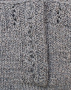 Finishing: Obstacles in Knitting, Silica Bodice front placket