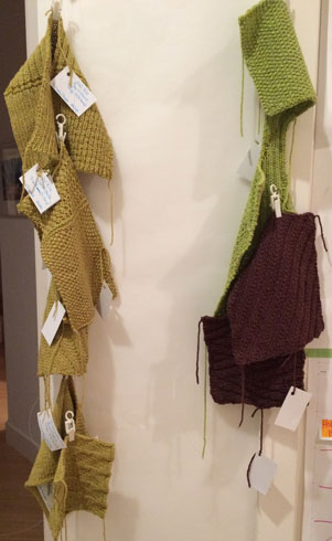 Substituting Yarn: Civility Sport and Sport Hi-Twist Swatches