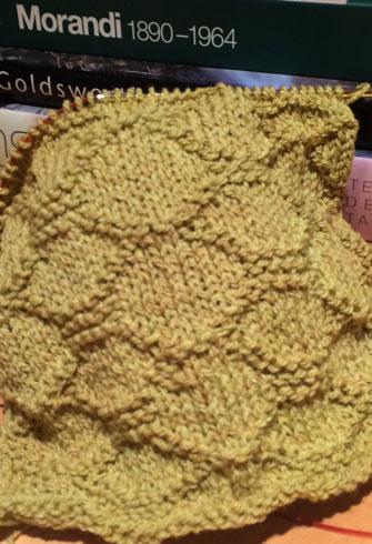 Garter Stitch: Swatch of Garter Brocade