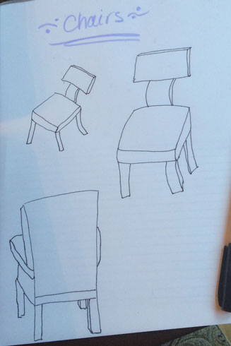 Real Life: chair drawing