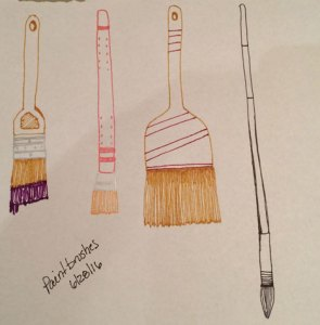 Stepping Away: Paintbrushes