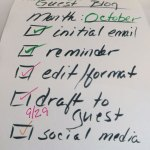 Get Ahead: Planning a Guest Blog