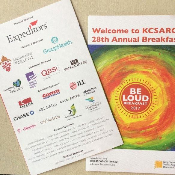 Be Loud: KCSARC 28th Annual Breakfast