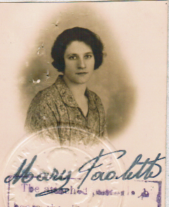 Karen Whooley: Nonna's Passport photo