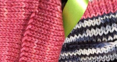 Smooth Ears: Flat 3-needle bind off