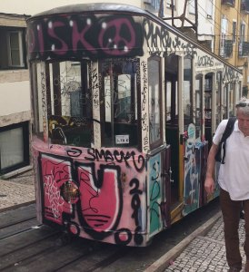 Spring 2017 Travel: Lisbon funicular notice the shape!