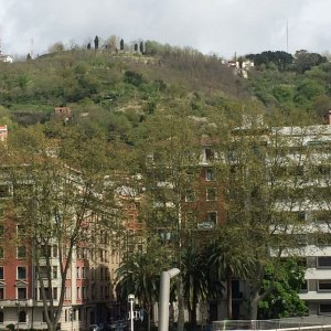 Spring 2017 Travel: The hill the funicular climbs in Bilbao