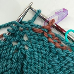Bind off Within Row: 4) work 1 st past removable marker