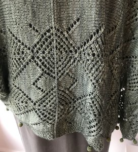 Techniques Needed for Medallion Shrug Swatch
