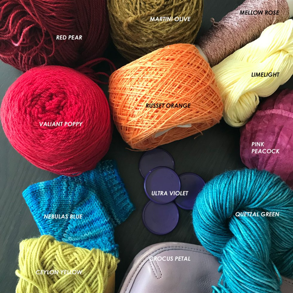 Autumn/Winter 2018 Colors: in Yarn & other items