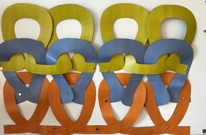 Garter Stitch: Paper stitches in 3-d