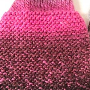 Garter Stitch: Single ply wool