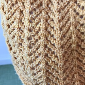 Short cut: Look at the beauty of this stitch and yarn combination!