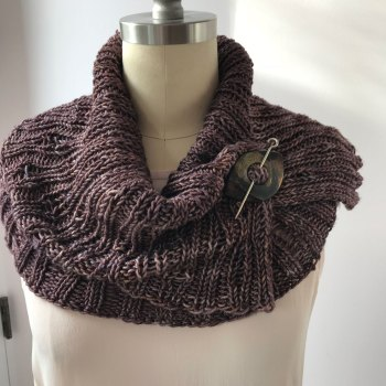 Naples Collar & Cowl: Worsted Cowl with Collar on top