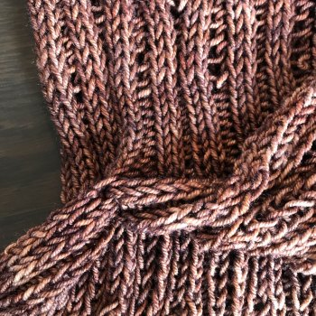 Naples Collar & Cowl: Worsted Cowl structure