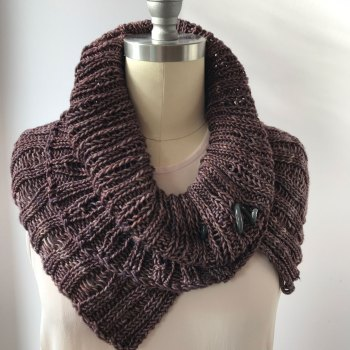 Naples Collar & Cowl: Worsted Cowl