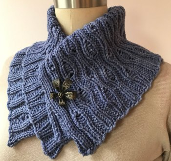 Naples Collar & Cowl: Worsted Flat
