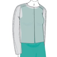 Sakai Cardigan drawing over dress
