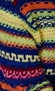 Slip Stitch: In color work and in solids