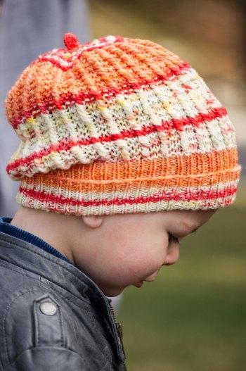 Queenstown Hats 3-color sock side view