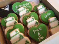 Cake and Hearts Wedding Set  Jillybeans Cookies