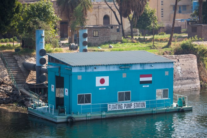 Floating Pump Station im Nil