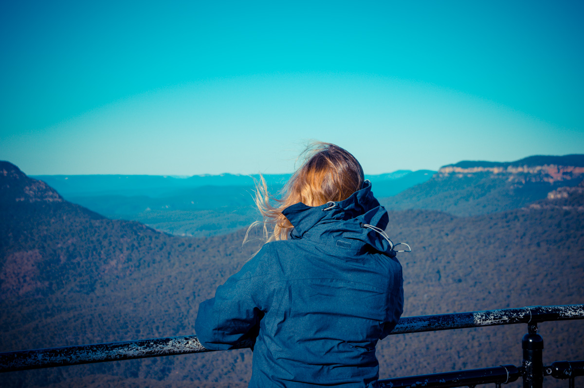 Jil im Blue Mountains National Park, Australien