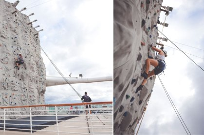 Rock Climbing Wall auf der Serenade of the Seas