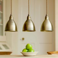 Pendant Lighting | Barbican Stylish Brass Pendant Light ...