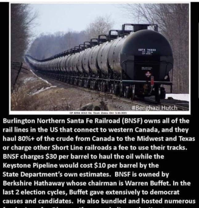 Cui Bono — Follow the money — What's really going on with the cancellation by Joe Biden of the Keystone Pipeline?