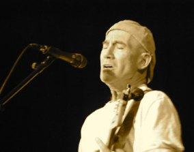 Jim singing sepia