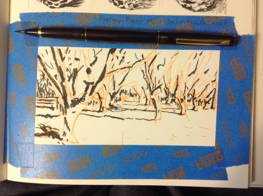 The Orchard - Brush Pen