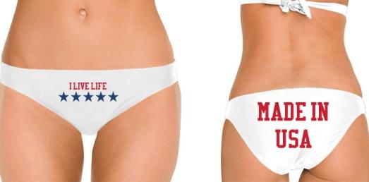 MADE IN USA white bikini bottoms