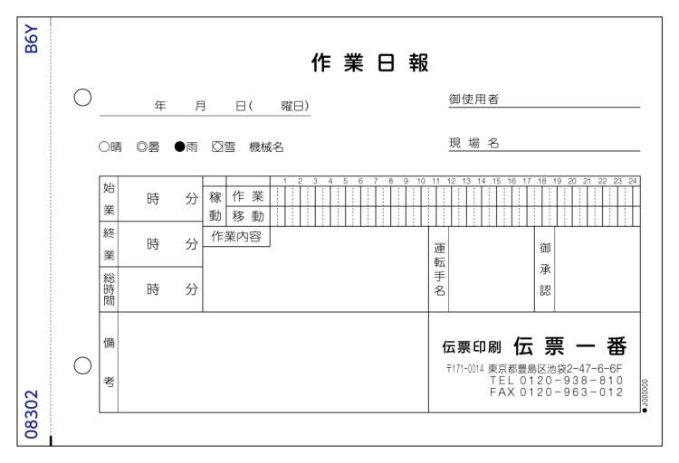 作業日報 №08302