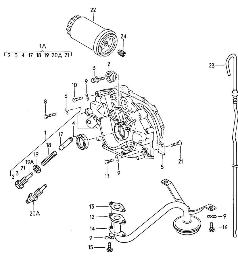 Service manual [1988 Audi 80 90 Oil Filter Bolt Seal