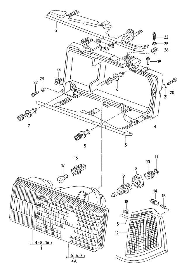 Audi Headlamp