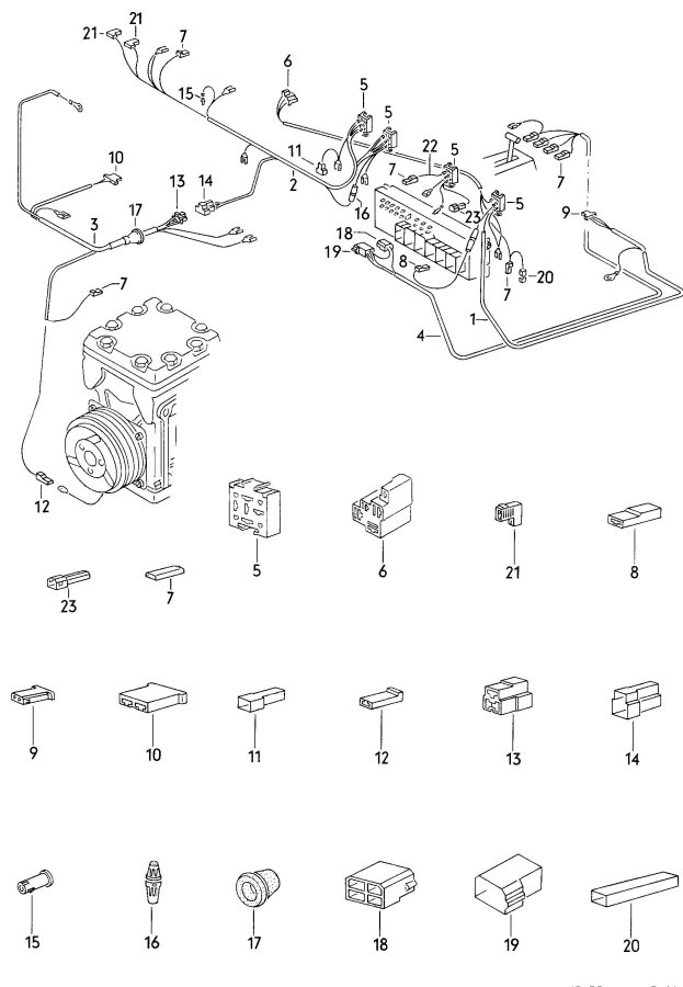 Audi Wiring harnesses harness for air conditioner wiring