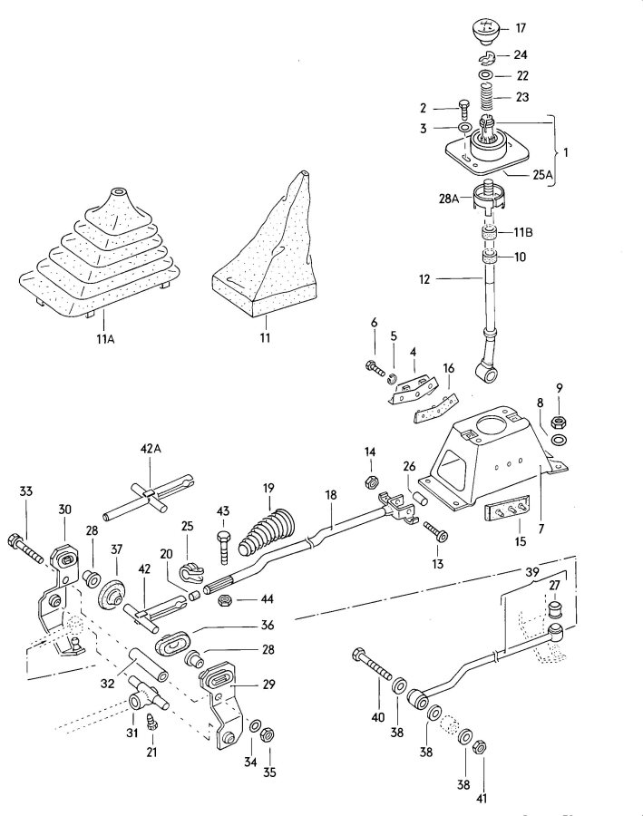Service manual [1991 Audi 80 Gear Shift Mechanism