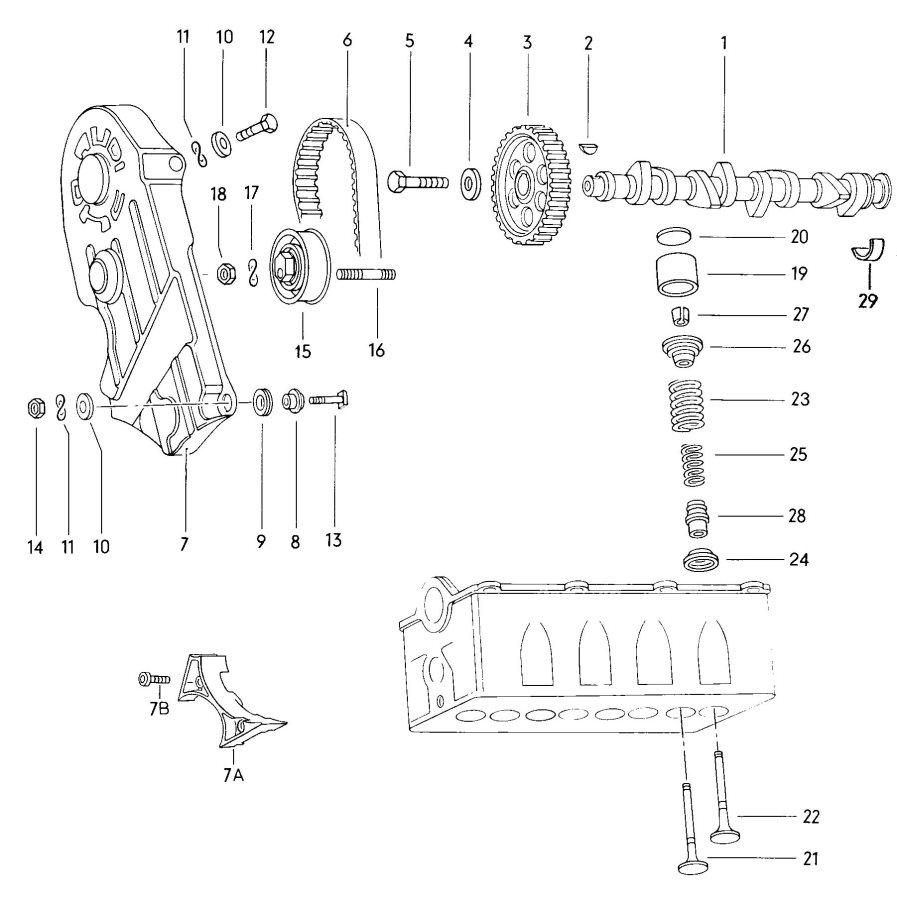 Audi Camshaft, valves toothed belt