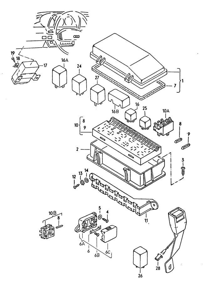 Audi Fuse box/relay plate, fuse box fuse box/relay plate