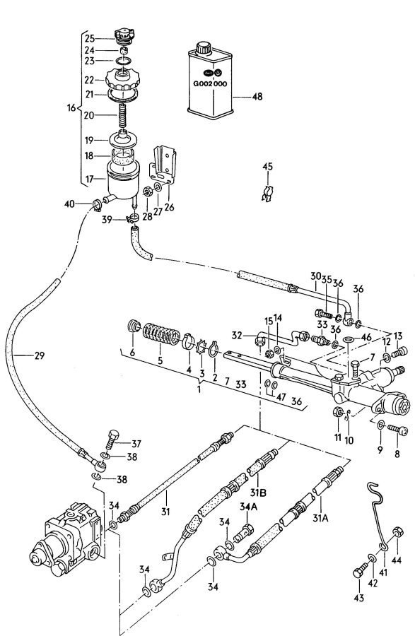 Service manual [1985 Audi 5000s How To Remove Timming Gear