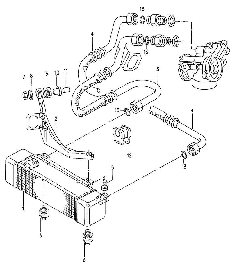2007 Audi S4 Avant Water drain hose shorten to:. Selection
