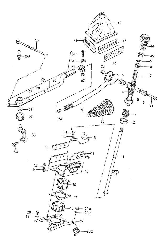 1984 Audi 4000 Quattro Ball socket for gearshift lever