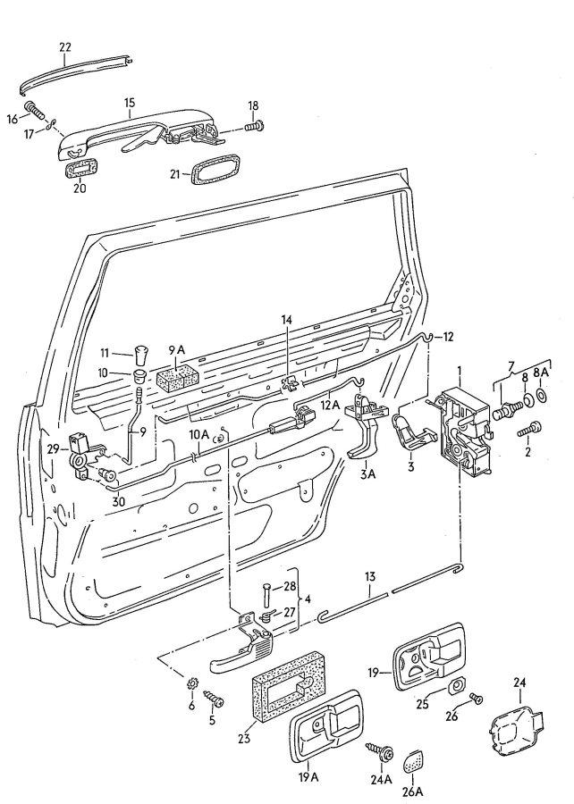 Service manual [1987 Audi 4000cs Quattro Lift Gate Latch