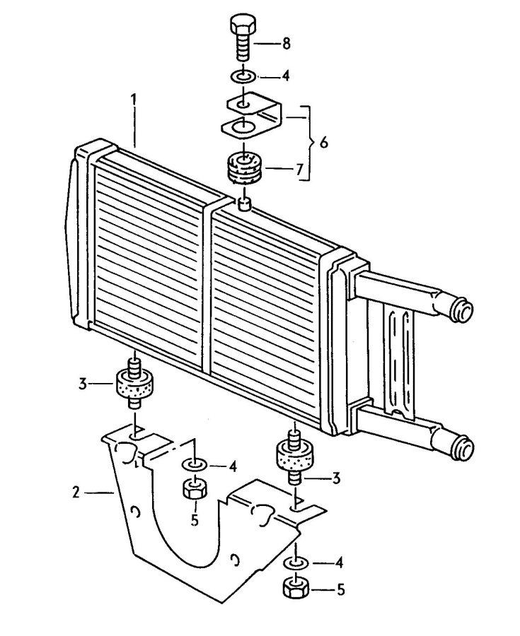 Audi 1988 Model Radiator Parts, Audi, Free Engine Image
