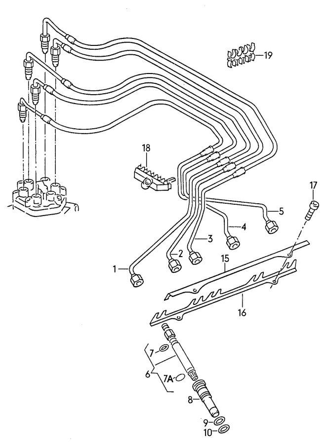Audi Injector fuel line