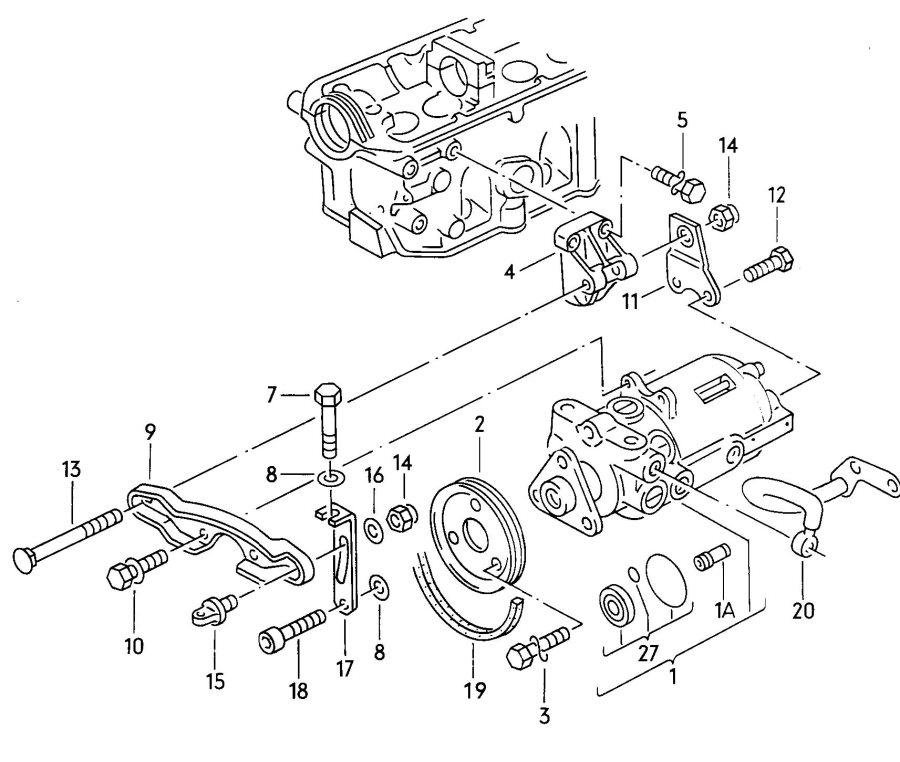 1991 Audi 100 Quattro Hydraulic pump for power steering