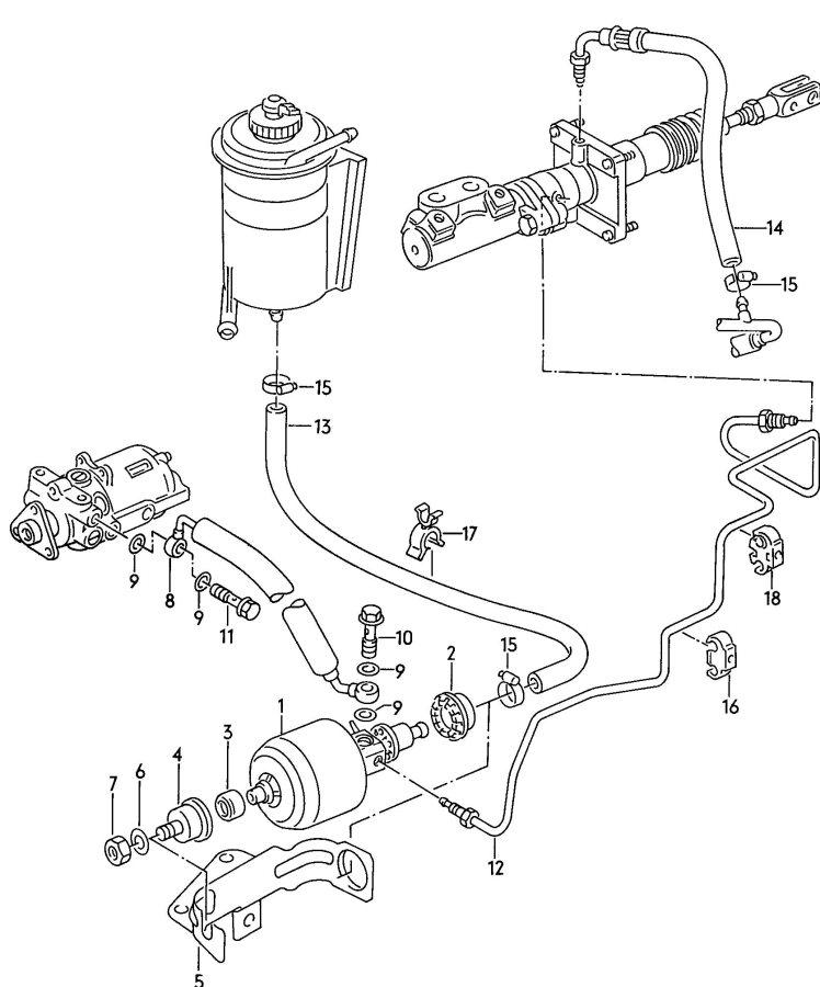 Audi Pressure unit vacuum hoses with connecting parts for