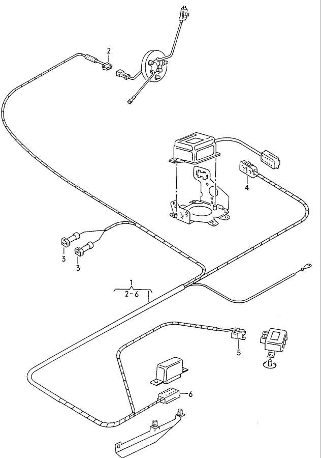 Audi Air bag harness lhd